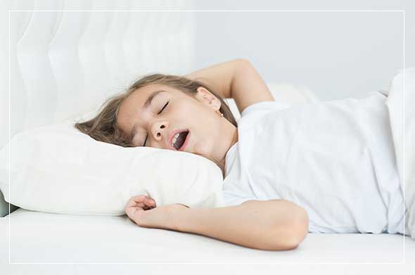 child snoring from sleep apnea